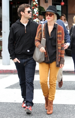 Ryan Seacrest and Julianne Hough step out on December 23, 2012 in Los Angeles