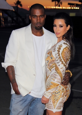 Kanye West and Kim Kardashian attend the 'Cruel Summer' presentation during 65th Annual Cannes Film Festival on May 23, 2012 in Cannes, France
