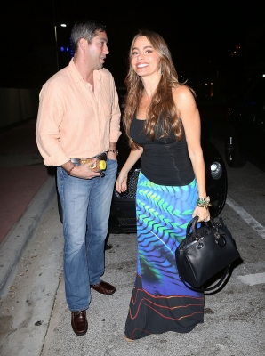 Nick Loeb and Sofia Vergara are seen at Prime 112 Steakhouse on January 2, 2013 in Miami Beach