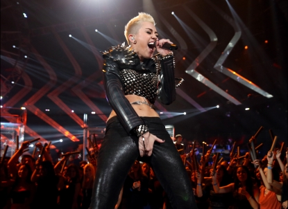 Miley Cyrus performs onstage during &#8216;VH1 Divas&#8217; 2012 at The Shrine Auditorium on December 16, 2012 in Los Angeles