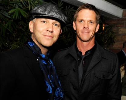 Ryan Murphy and David Miller arrive at the after party for FX's 'American Horror Story' at the Hollywood Roosevelt Hotel on October 3, 2011 in Los Angeles