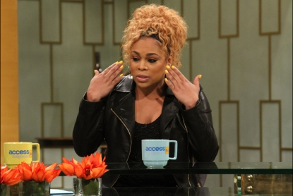 T-Boz stops by Access Hollywood Live on January 7, 2013