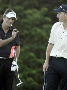 Alice Cooper & Jim Furyk at the Mercedes Benz championship in Hawaii
