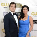 Henry Cavill and Gina Carano attend the Critics' Choice Movie Awards 2013 with Skinnygirl Cocktails at Barkar Hangar in Santa Monica, Calif., on January 10, 2013