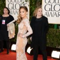 Jennifer Lopez arrives at the 70th Annual Golden Globe Awards held at The Beverly Hilton Hotel in Beverly Hills, Calif., on January 13, 2013