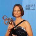 Jodie Foster, winner of the Cecil B. De Mille Award, poses in the press room during the 70th Annual Golden Globe Awards held at The Beverly Hilton Hotel in Beverly Hills, Calif., on January 13, 2013