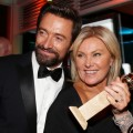 Hugh Jackman and Deborra-Lee Furness pose during NBC Universal's Golden Globes Post-Party Sponsored by Fiat and Hilton held at the Beverly Hilton Hotel on January 13, 2013