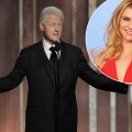President Bill Clinton on stage to present during the 70th Annual Golden Globe Awards at the Beverly Hilton Hotel International Ballroom on January 13, 2013 in Beverly Hills / inset: Claire Danes