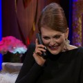 2013 Golden Globes Backstage: Julianne Moore Calls Her Kids After Her Win