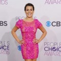 Lea Michele dazzles in pink at The People's Choice Awards on January 10, 2013