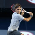 Roger Federer of Switzerland seen during day four of the 2013 Australian Open at Melbourne Park on January 17, 2013 in Melbourne