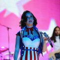 Katy Perry rocks a patriotic ensemble during the children&#8217;s concert at the Washington Convention Center to celebrate military families on January 19, 2013 in Washington, DC.