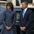 President Barack Obama and First Lady Michelle Obama arrive at St. John&#8217;s Church on January 21, 2013 in Washington, DC, hours before Obama participates in a ceremonial swearing in for a second term in office