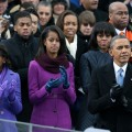 President Barack Obama, First Lady Michelle Obama, along with daughters Sasha and Malia during Inauguration Day in Washington, DC on January 21, 2013