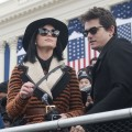 Katy Perry and John Mayer are seen at the inauguration for U.S. President Barack Obama&#8217;s second term of office in Washington D.C. on January 21, 2013