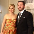 Kelly Clarkson & Brandon Blackstock getting ready for the  Inaugural Ball in Washington DC on January 22, 2013