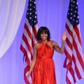 First Lady Michelle Obama dazzles in red at the Inaugural Ball on January 21, 2013