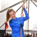 Brooklyn Decker tackles The Reebok Spartan Race Times Square Challenge in Times Square on January 17, 2013 in New York City