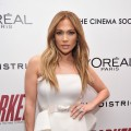 lJennifer Lopez attends a screening of 'Parker' hosted by FilmDistrict, The Cinema Society, L'Oreal Paris and Appleton Estate at MOMA on January 23, 2013 in New York City