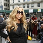 Mariah Carey arrives at the New York auditions of 'American Idol,' Season 12