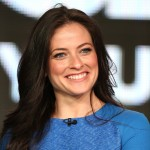 Lara Pulver speaks onstage at the 'Da Vinci's Demons' panel discussion during the Starz portion of the 2013 Winter TCA Tour- Day 2 at Langham Hotel, Pasadena, Calif., on January 5, 2013
