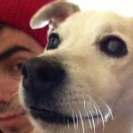 Nathan Sykes and dog Harry