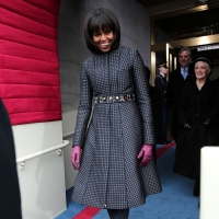 First Lady Michelle Obama on Inauguration Day 2013