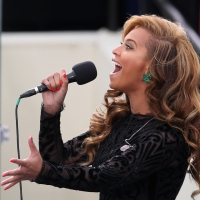 Beyonce performs the National Anthem during the public ceremonial inauguration for U.S. President Barack Obama on the West Front of the U.S. Capitol January 21, 2013 in Washington, DC