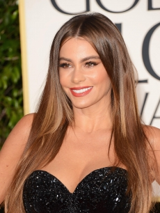 Sofia Vergara arrives at the 70th Annual Golden Globe Awards held at The Beverly Hilton Hotel on January 13, 2013 
