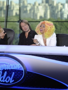 Mariah Carey, Keith Urban, Nicki Minaj and Randy Jackson at the New York auditions of &#8216;American Idol,&#8217; Season 12