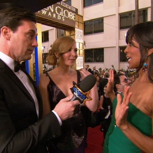 Golden Globes 2013: Jon Hamm Shares Favorite Past Globes Moment & Steals The Fashion Correspondent Spotlight
