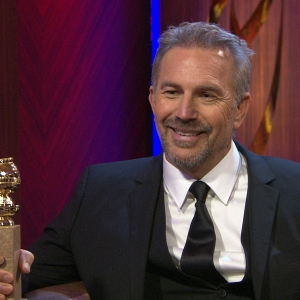 2013 Golden Globes Backstage: Kevin Costner On His Win: &#8216;It&#8217;s Been A Great Year!&#8217;