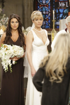 Nadia Bjorlin as Chloe Lane, Arianne Zucker as Nicole Walker of &#8216;Days of Our Lives&#8217;