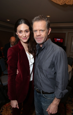 Emmy Rossum and William H. Macy at Showtime&#8217;s 2013 Winter TCA held at Langham Huntington Hotel and Spa, Pasadena, Calif., on January 12, 2013