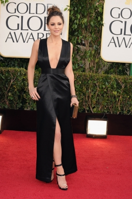 'Smash' star Katharine McPhee arrives at the 70th Annual Golden Globe Awards held at The Beverly Hilton Hotel on January 13, 2013