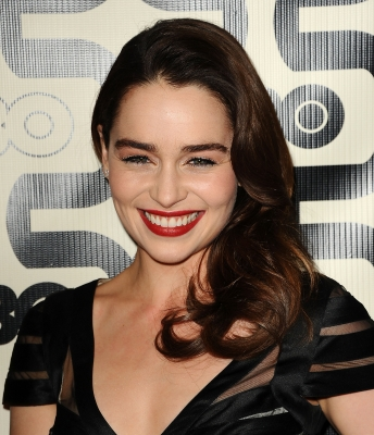 Emilia Clarke attends the HBO after party at the 70th annual Golden Globe Awards at Circa 55 restaurant at the Beverly Hilton Hotel on January 13, 2013