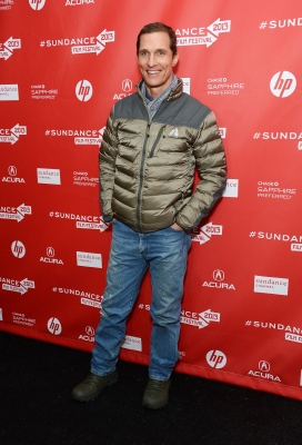 Matthew McConaughey arrives at the 2013 Sundance Film Festival Premiere of 'Mud' at The Marc Theatre on January 19, 2013 in Park City, Utah