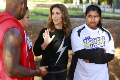 Lindsay Bravo, Jillian Michaels and Sunny Chandrasekar on &#8216;The Biggest Loser&#8217;