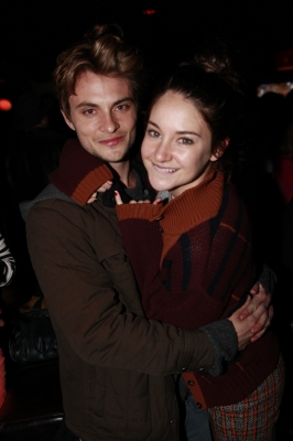 Shailene Woodley gets up close and personal with 'White Bird' costar Shiloh Fernandez  on the dance floor at Hyde Lounge at Sundance at the Masterson brothers' bar, Downstairs, on Main Street