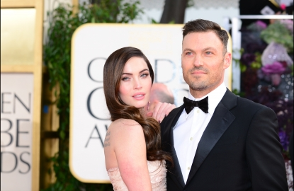 Megan Fox and Brian Austin Green arrive at the Golden Globe awards ceremony in Beverly Hills in Beverly Hills, Calif., on January 13, 2013