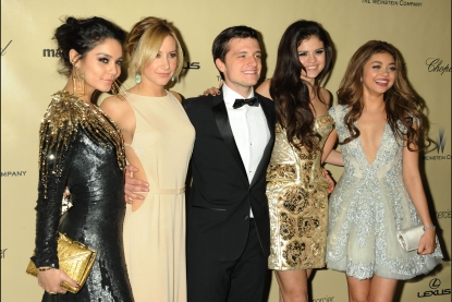 Vanessa Hudgens, Ashley Tisdale, Josh Hutcherson, Selena Gomez and Sarah Hyland attend The Weinstein Company&#8217;s 2013 Golden Globes After Party held at The Old Trader Vic&#8217;s in The Beverly Hilton Hotel on January 13, 2013 in Beverly Hills