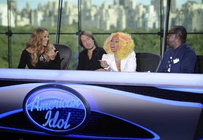 Mariah Carey, Keith Urban, Nicki Minaj and Randy Jackson at the New York auditions of 'American Idol,' Season 12