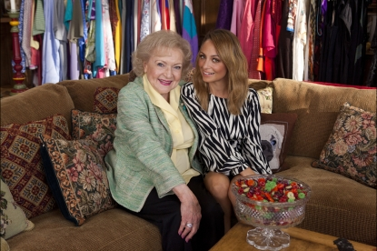 Betty White with special guest Nicole Richie on the January 22, 2013 episode of 'Betty White's Off Their Rockers'