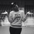 Beyonce dons a 'Can I Live?' Sweatshirt while rehearsing for the Super Bowl in New Orleans on January 27, 2013