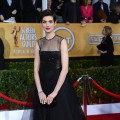 Anne Hathaway arrives at the 19th Annual Screen Actors Guild Awards held at The Shrine Auditorium on January 27, 2013 in Los Angeles, California. (Photo WireImage)