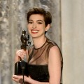 Anne Hathaway accepts the award onstage for Outstanding Performance by a Female Actor in a Supporting Role for 'Les Miserables' during the 19th Annual Screen Actors Guild Awards held at The Shrine Auditorium on January 27, 2013