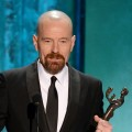 Bryan Cranston accepts the award for Outstanding Performance by a Male Actor in a Drama Series for 'Breaking Bad' onstage during the 19th Annual Screen Actors Guild Awards held at The Shrine Auditorium on January 27, 2013 in Los Angeles  (Photo by Getty Images)