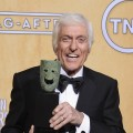 Dick Van Dyke, recipient of the Screen Actors Guild Life Achievement Award, poses in the press room during the 19th Annual Screen Actors Guild Awards held at The Shrine Auditorium on January 27, 2013 (Photo by Getty Images) 