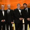 Alan Arkin, Bryan Cranston, John Goodman and Ben Affleck onstage during the 19th Annual Screen Actors Guild Awards held at The Shrine Auditorium on January 27, 2013 (Photo by Getty Images)