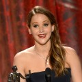 Jennifer Lawrence accepts the award for Outstanding Performance by a Female Actor in a Leading Role for &#8216;Silver Linings Playbook&#8217; onstage during the 19th Annual Screen Actors Guild Awards held at The Shrine Auditorium on January 27, 2013 (Photo by Getty Images) 